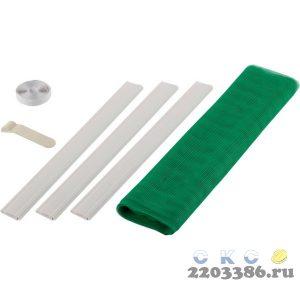 """Сетка STAYER """"COMFORT"""" противомоскитная для двери, с крепежной лентой и грузиками, ПЭТ, зеленая, 1,0 х 2,2 м"""