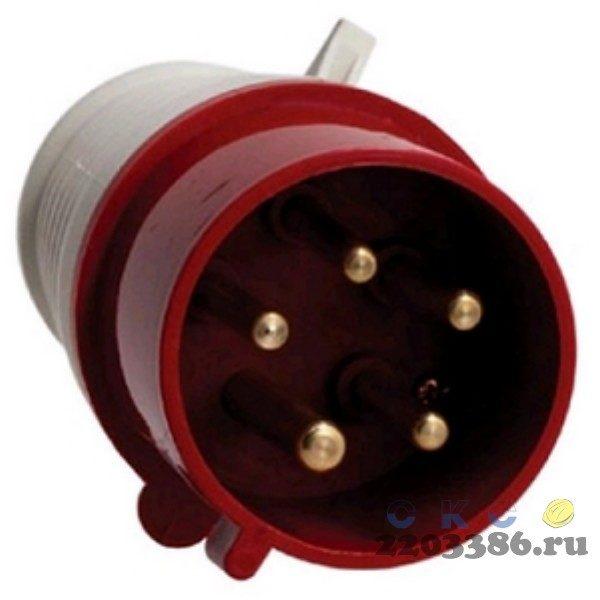 Вилка кабельная 32А 2Р+E IР44 переносная 250В 023 (PSR01-032-3)