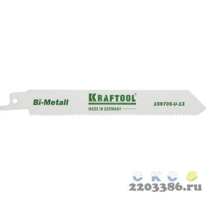 """Полотно KRAFTOOL """"INDUSTRIE QUALITAT"""", S922VF, для эл/ножовки, Bi-Metall, по металлу, дереву, шаг 1,8-2,5мм, 130мм"""