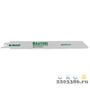 """Полотно KRAFTOOL """"INDUSTRIE QUALITAT"""", S1122VF, для эл/ножовки, Bi-Metall, по металлу, дереву, шаг 1,8-2,5мм, 180мм"""