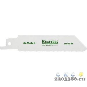 "Полотно KRAFTOOL ""INDUSTRIE QUALITAT"", S522EF, для эл/ножовки, Bi-Metall, по металлу, шаг 1,4мм, 80мм"