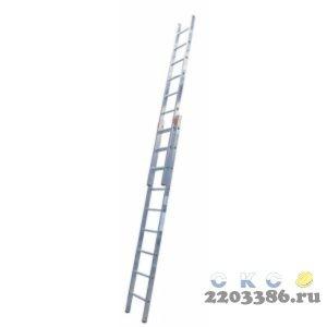 Лестница выдвижная KRAUSE STABILO 2х24 двухсекционная, с тросом