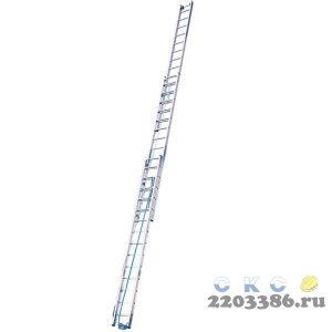 Лестница выдвижная KRAUSE STABILO 3х14 трехсекционная, с тросом