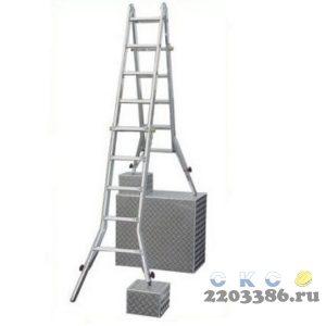 Лестница-трансформер KRAUSE STABILO  4х4 шарнирная, телескопическая, 4 удлинителя