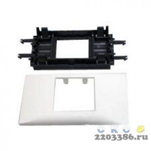 Суппорт/рамка Mosaic на 2 модуля DLP на крышку 65 мм (10952)