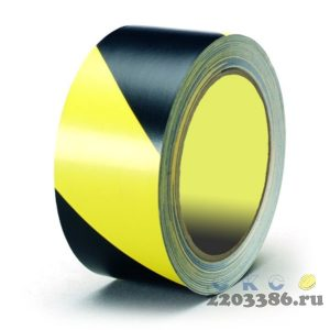 Лента оградительная ЛО-250 (черно-желтая 75х250м 40мкм)