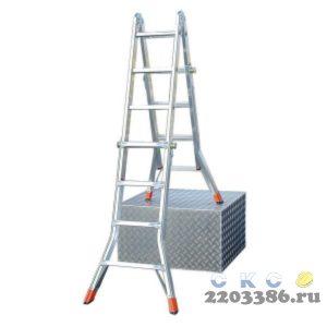 Лестница-трансформер KRAUSE MONTO TELEMATIC 4х4 шарнирная, телескопическая