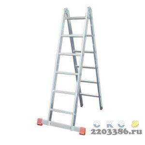Лестница-трансформер KRAUSE MONTO TRIMATIC 2х6 шарнирная, двухсекционная