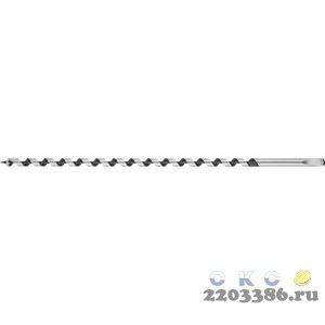 URAGAN 12x450/360мм, сверло левиса по дереву, шестигранный хвостовик