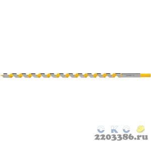STAYER Spiral 14x235/160мм, сверло левиса по дереву, шестигранный хвостовик