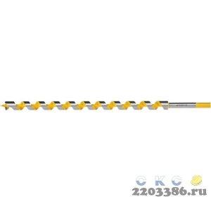 STAYER Spiral 22x450/360мм, сверло левиса по дереву, шестигранный хвостовик