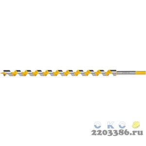 STAYER Spiral 25x450/360мм, сверло левиса по дереву, шестигранный хвостовик