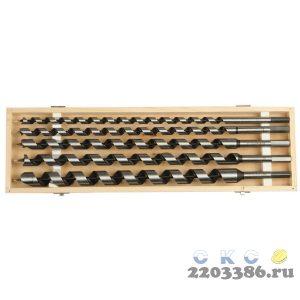 ЗУБР 5 шт, d 12-14-18-20-25 мм, набор сверл левиса по дереву, шестигранный хвостовик