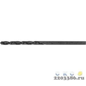 Сверло ТЕВТОН по металлу, быстрорежущая сталь, 6,5x57x90мм, 10 шт
