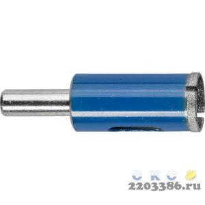 Сверло алмазное трубчатое по стеклу и кафелю, d=14 мм, зерно Р 100, ЗУБР Профессионал 29860-14