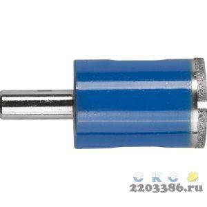 Сверло алмазное трубчатое по стеклу и кафелю, d=24 мм, зерно Р 100, ЗУБР Профессионал 29860-24