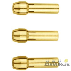 STAYER d=3,2 мм, d 2,4 мм, d 1,6 мм, набор цанг для электрогравёра, 3 предм.