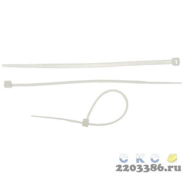 Кабельные стяжки белые КС-Б2, 2.5 х 100 мм, 50 шт, нейлоновые, ЗУБР Профессионал