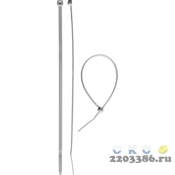 Кабельные стяжки белые КС-Б1, 3.6 x 370 мм, 100 шт, нейлоновые, ЗУБР Профессионал