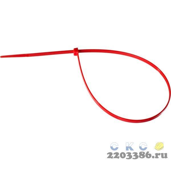 Кабельные стяжки красные КС-К1, 3.6 x 200 мм, 100 шт, нейлоновые, ЗУБР Профессионал