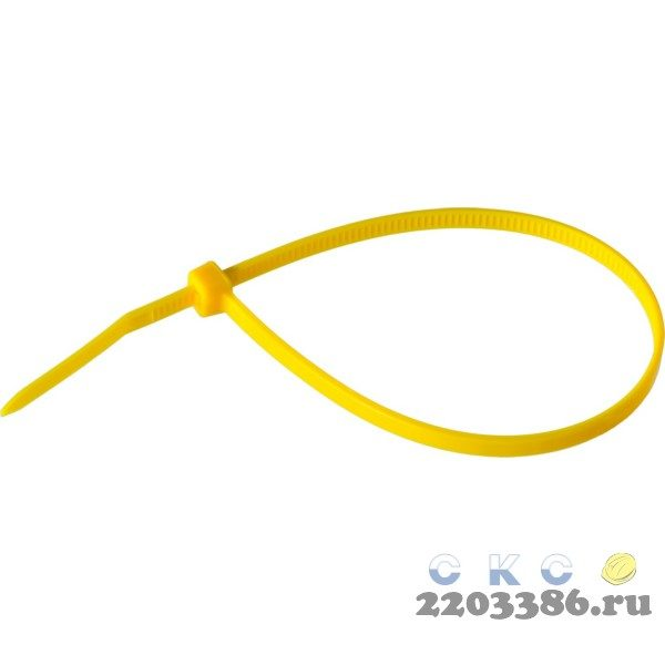 Кабельные стяжки желтые КС-Ж1, 3.6 x 300 мм, 100 шт, нейлоновые, ЗУБР Профессионал