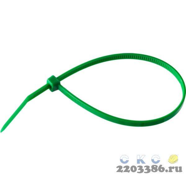 Кабельные стяжки зеленые КС-З1, 4.8 x 400 мм, 100 шт, нейлоновые, ЗУБР Профессионал