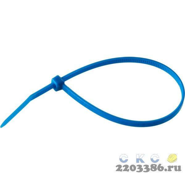 Кабельные стяжки синие КС-С1, 3.6 x 200 мм, 100 шт, нейлоновые, ЗУБР Профессионал