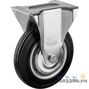 Колесо неповоротное d=160 мм, г/п 145 кг, резина/металл, игольчатый подшипник, ЗУБР Профессионал