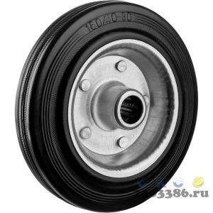 Колесо d=160 мм, г/п 145 кг, резина/металл, игольчатый подшипник, ЗУБР Профессионал