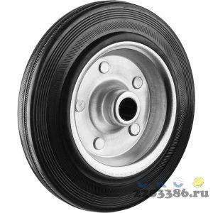 Колесо d=200 мм, г/п 185 кг, резина/металл, игольчатый подшипник, ЗУБР Профессионал