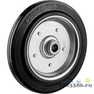 Колесо d=250 мм, г/п 210 кг, резина/металл, игольчатый подшипник, ЗУБР Профессионал