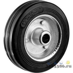 Колесо d=50 мм, г/п 35 кг, резина/полипропилен, ЗУБР