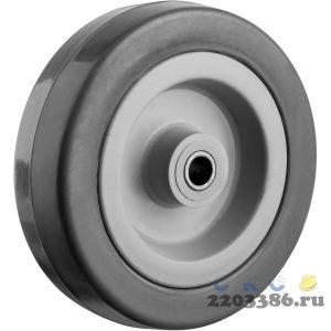 Колесо d=100 мм, г/п 65 кг, резина/полипропилен, ЗУБР