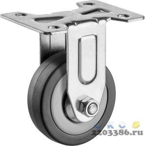 Колесо неповоротное d=50 мм, г/п 35 кг, резина/полипропилен, ЗУБР