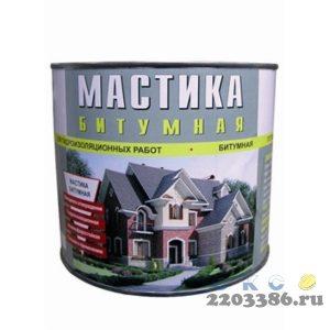 Мастика Битумная гидроизоляционная холодного отверждения 2л (4шт/уп) Москва
