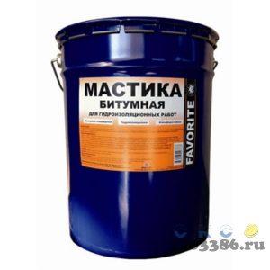 Мастика Битумная FAVORITE гидроизоляционная холодного отверждения ( металлическое ведро 20 л)