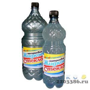 Жидкое стекло натриевое ( 1,5кг) пласт.бут. (12шт/уп)