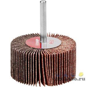 """Круг шлифовальный ЗУБР """"МАСТЕР"""" веерный лепестковый, на шпильке, тип КЛО, зерно-электрокорунд нормальный, P60, 30х60мм"""