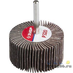 """Круг шлифовальный ЗУБР """"МАСТЕР"""" веерный лепестковый, на шпильке, тип КЛО, зерно-электрокорунд нормальный, P320, 30х60мм"""