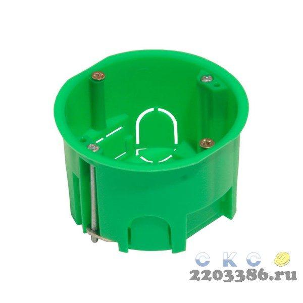 Коробка установочная 68х45мм металлические лапки ГИПРОК (КУ1202) 9763782