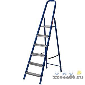 Лестница-стремянка стальная, 6 ступеней, 121 см, MIRAX