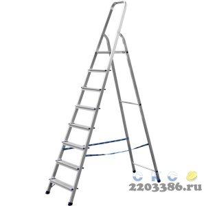 Лестница-стремянка СИБИН алюминиевая, 8 ступеней, 166 см