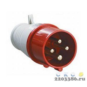 Вилка кабельная 32А 3Р+PE IР44 переносная 380В 024 (PSR02-032-4)