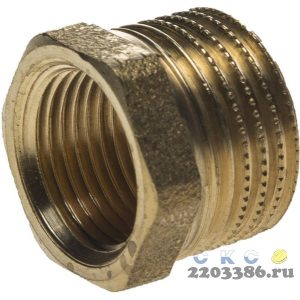 "Футорка GENERAL FITTINGS латунь, 1/2"" х 3/8"""