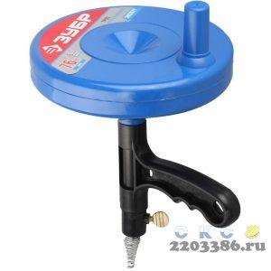 """Трос ЗУБР """"ЭКСПЕРТ"""" сантехнический в пластиковом корпусе длина 7,6 м, диаметр 6 мм"""
