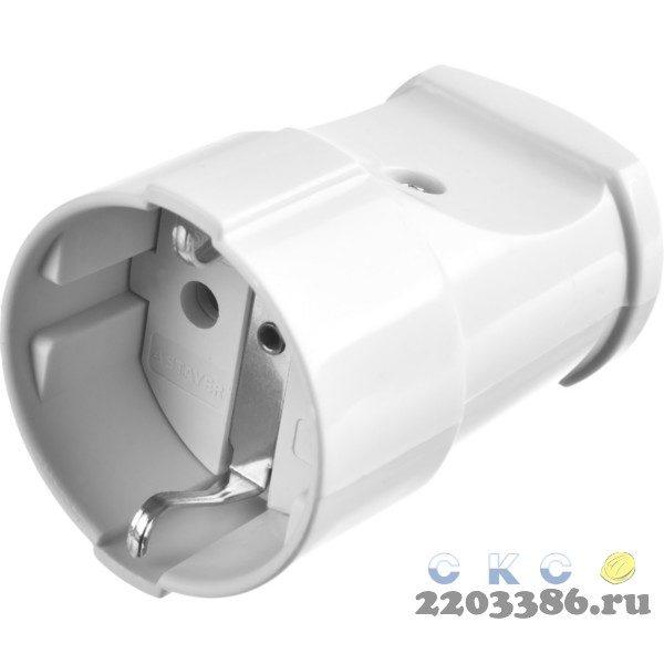 Розетка MAXElectro электрическая, 16А/220В, с заземлением, белая, STAYER