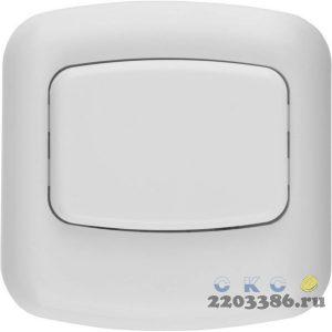 Кнопка СВЕТОЗАР для звонка, цвет белый, 220В