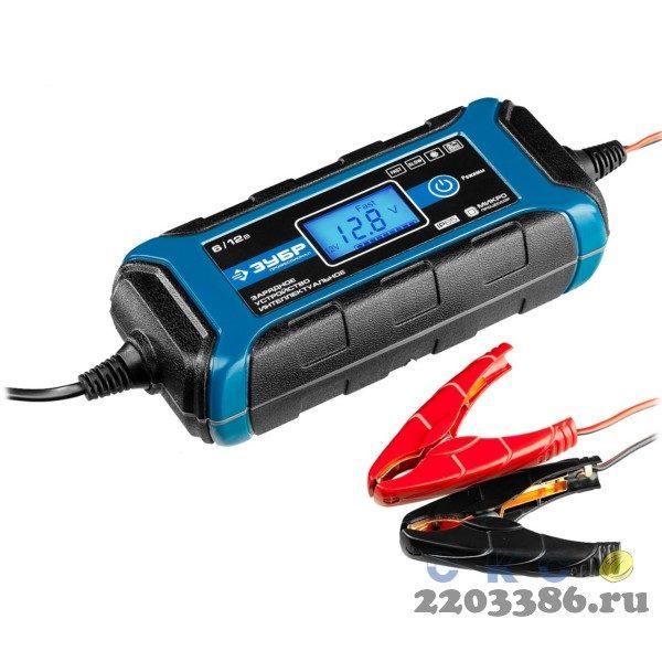 ЗУБР ЗУ-120 зарядное устройство: 6/12 В, 4А.
