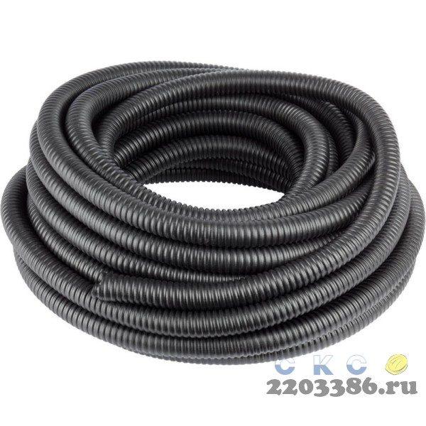 Металлорукав СВЕТОЗАР в ПВХ оболочке, степень защиты-IP65, диаметр 25мм, черный, 20м