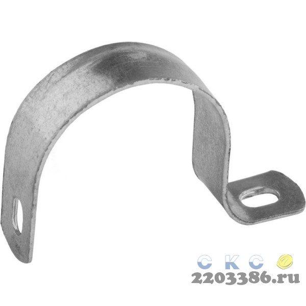 Скобы СВЕТОЗАР металлические D31мм, однолапковые, для крепления металлорукава d=25мм, 50шт